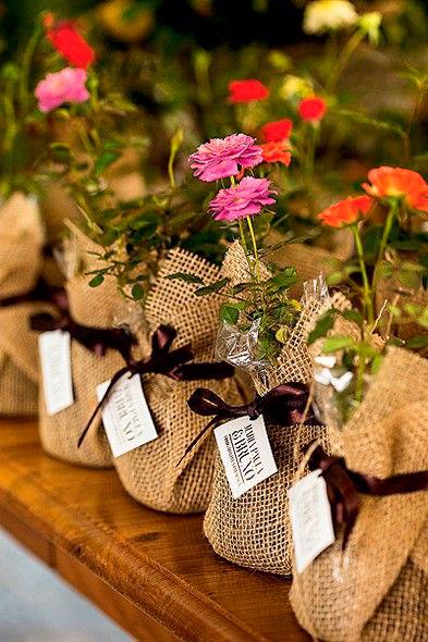 lembrancinha de casamento com flores