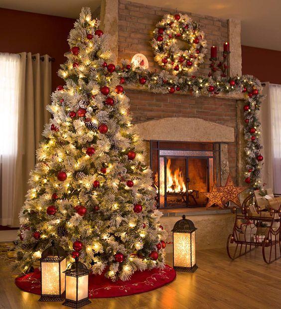 luzes de natal na decoração