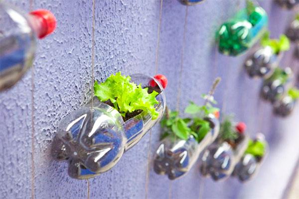 garrafas pet na decoração