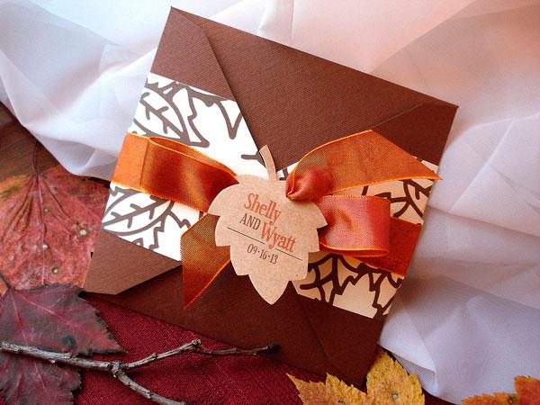 casamento no outono - convite