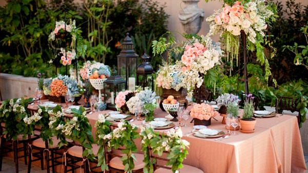 flores na decoração de casamento