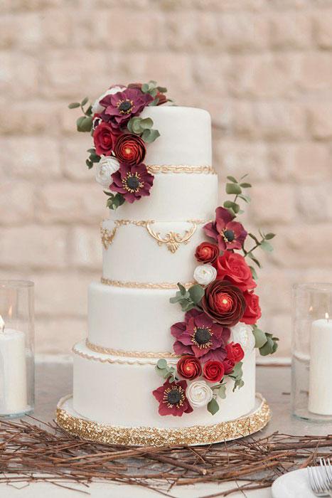 bolo para casamento de inverno iaza blog