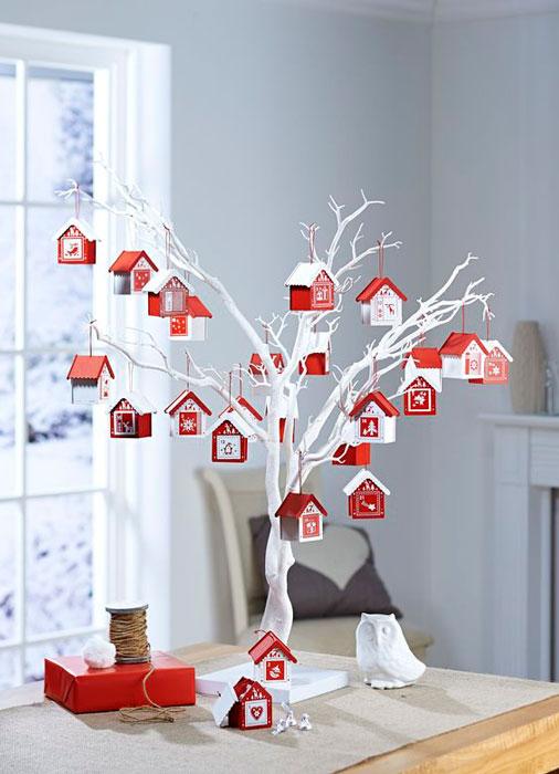 calendário de advento em árvore