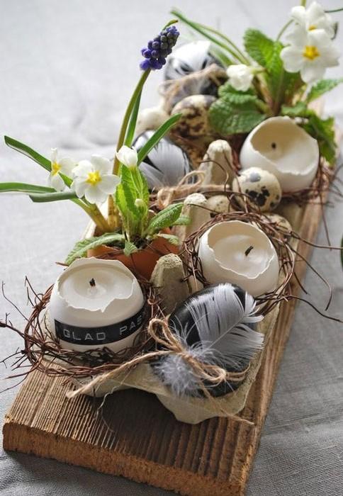 caixa de ovo na decoração