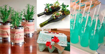 embalagens na decoração