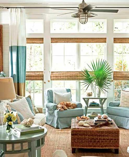 interior casa de praia