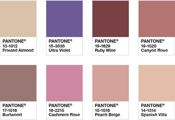 paleta Quietude pantone 2018