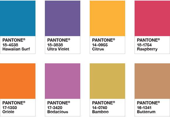 paleta Attitude Pantone 2018