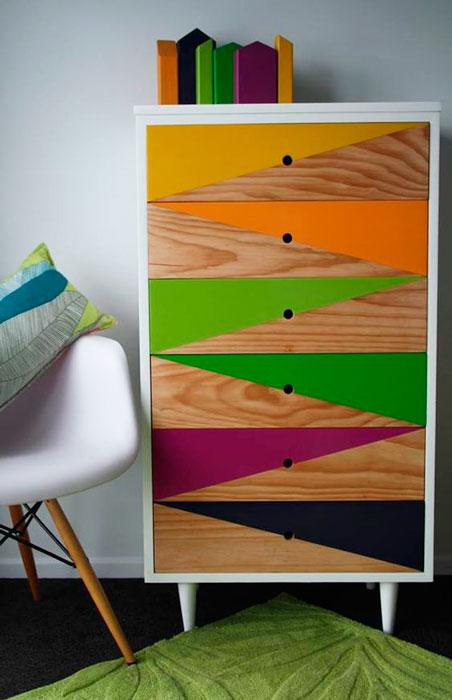 diy formas geométricas em móveis