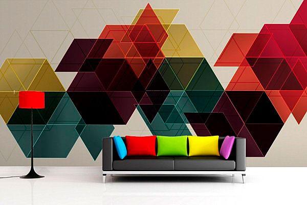 formas geométricas na decoração
