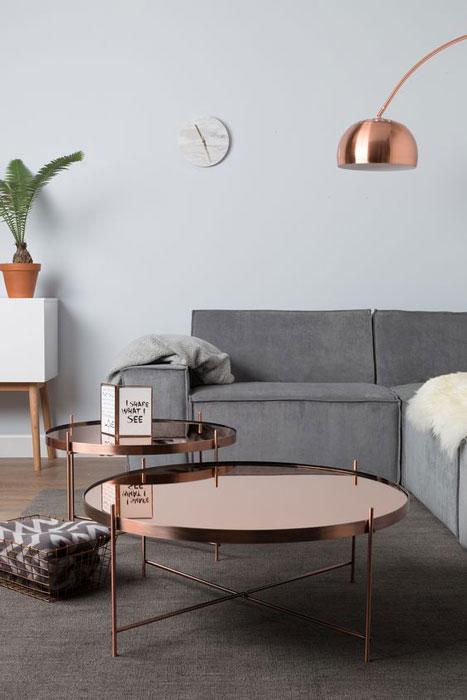 sala de estar com metal na decoração
