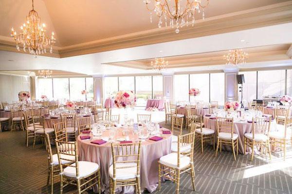 cor rose quartz em casamento