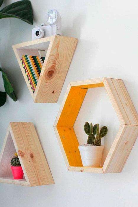 decoração com formas geométricas