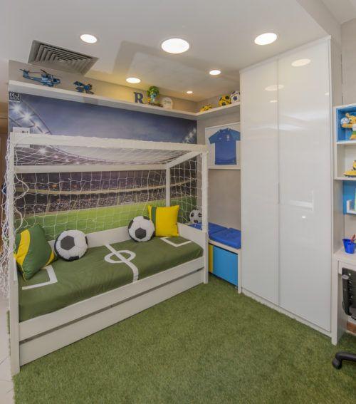 Decoração para quarto de futebol