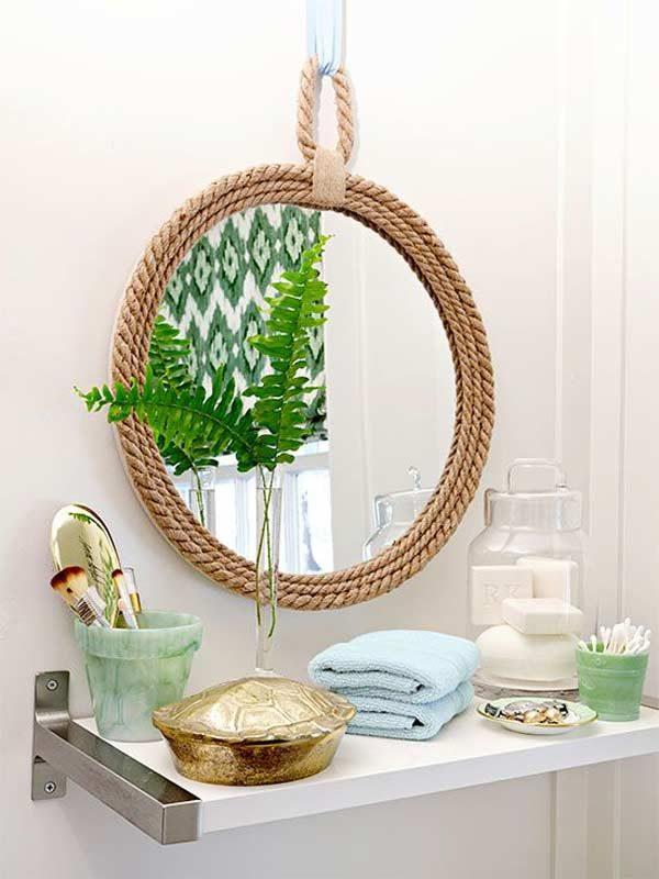 espelho de corda no banheiro