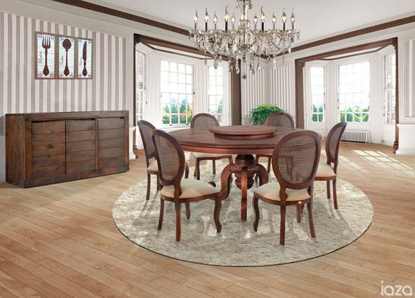 sala de jantar rústica aiza blog