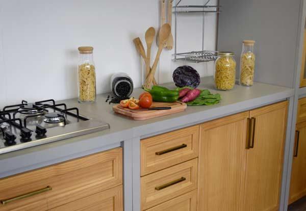 móveis rústicos na cozinha