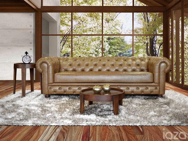 sofá chesterfield rústico mozart
