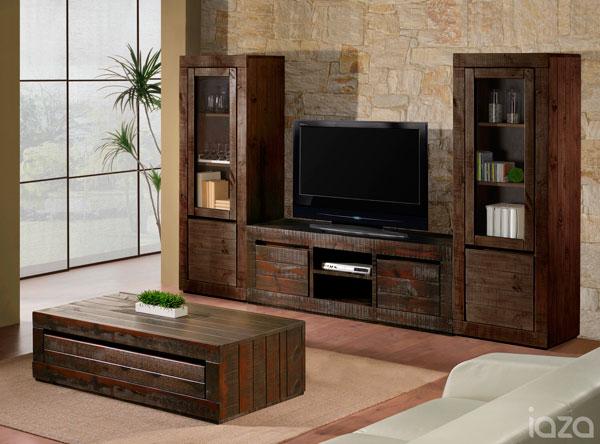 sala de estar rústica iaza móveis