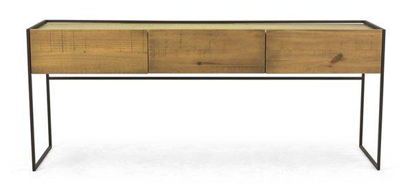 móveis industriais - rack de madeira 3 gavetas