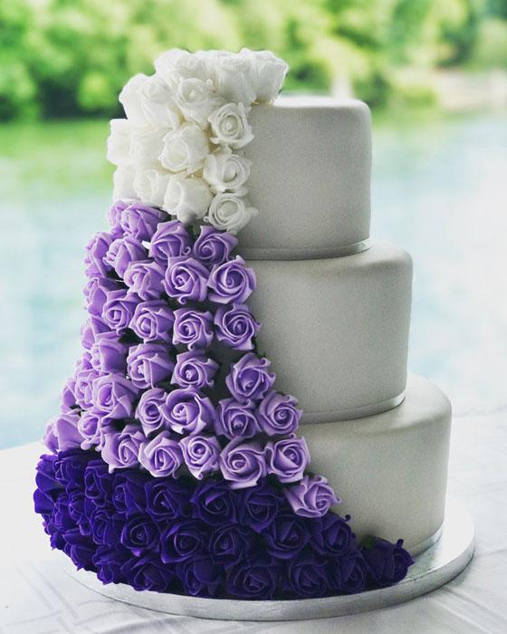bolo ultravioleta casamento