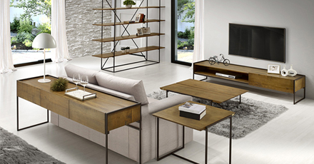 móveis industriais de madeira e ferro