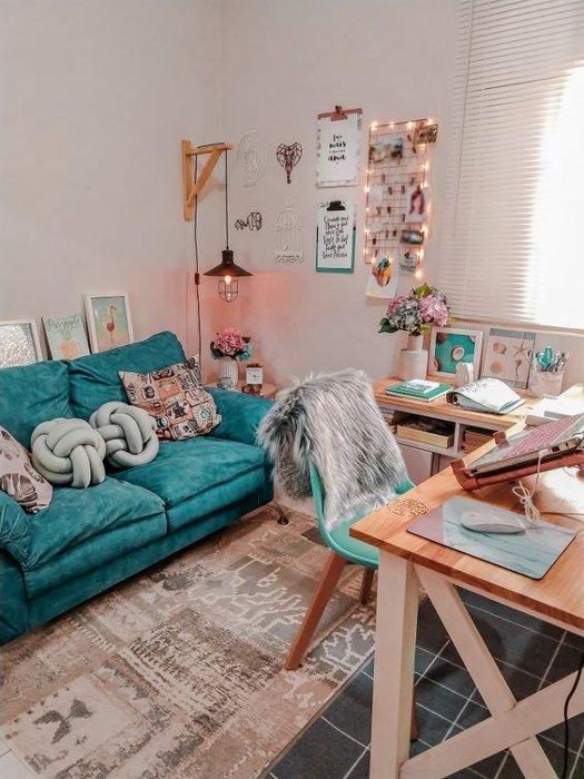 Casa alugada decorada