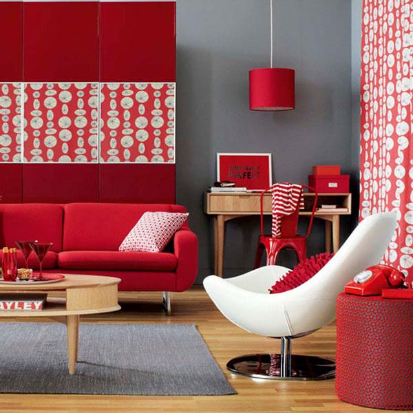 cizna e vermelho na decoração