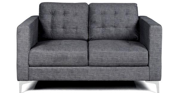sofá cinza 2 lugares Donna