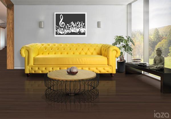 sofá amarelo para a copa do mundo