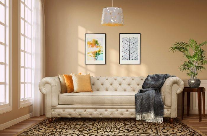 sofá para casa alugada