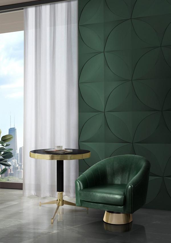 verde musgo na decoração