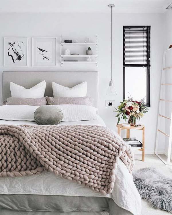 quarto decorado para o inverno