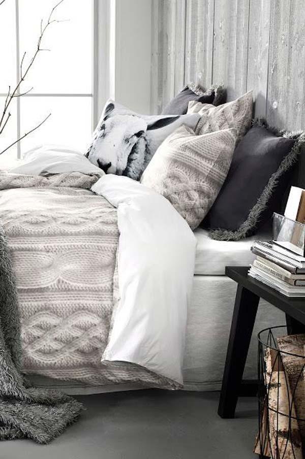 quarto decorado para inverno