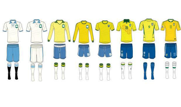 Todos uniformes da seleção brasileira