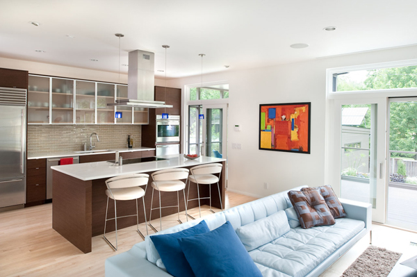 cozinha com sala integrada
