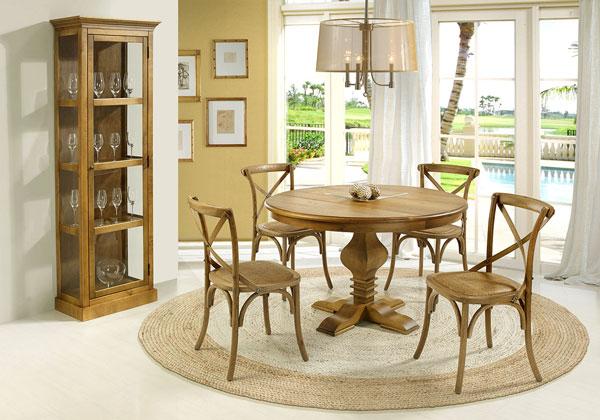 sala de jantar de madeira rústica