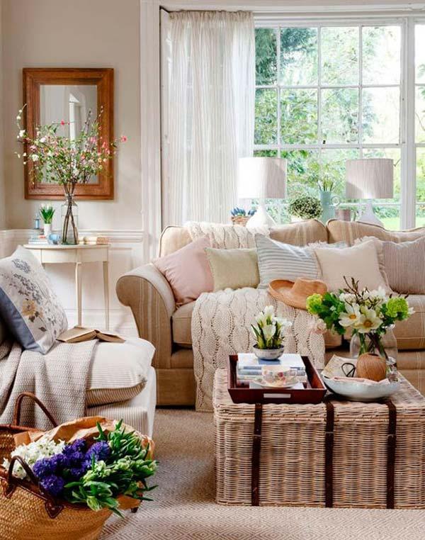 sala de estar no inverno