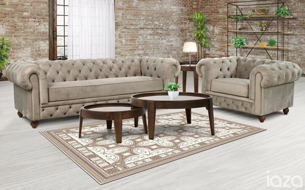sofá chesterfield mozart veludo