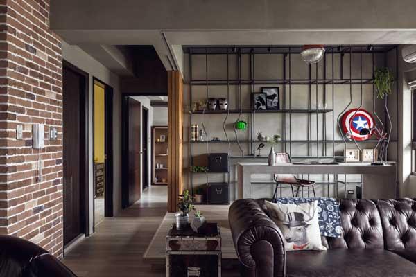 sala de estar industrial