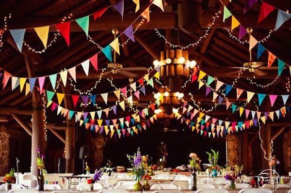 bandeirinhas na decoração