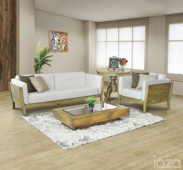 sala de estar rustica