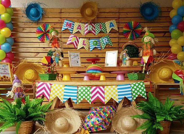 festa junina decorada