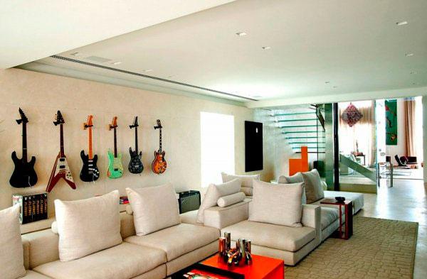guitarra na decoração