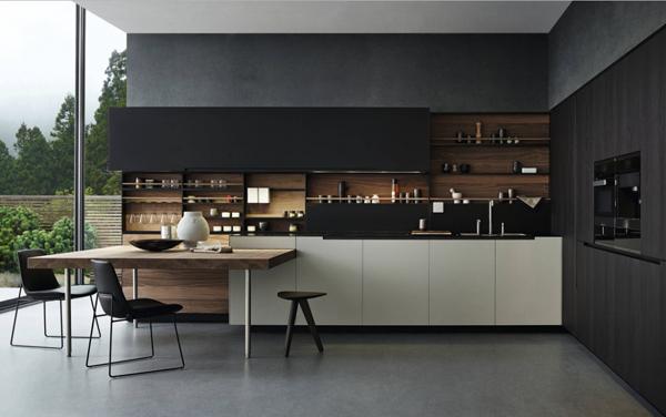 cozinha com preto na decoração