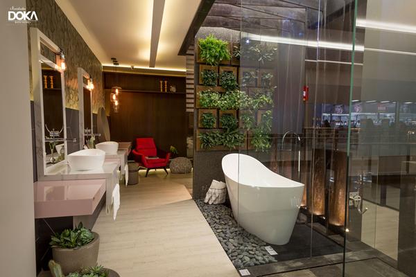 iluminação de sala de banho