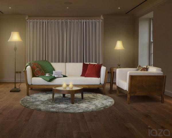 sala de estar de madeira