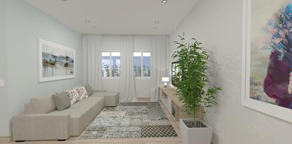 sala com planta clean