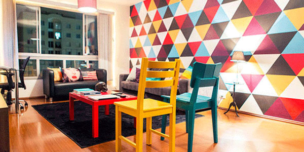 cor e arte na decoração