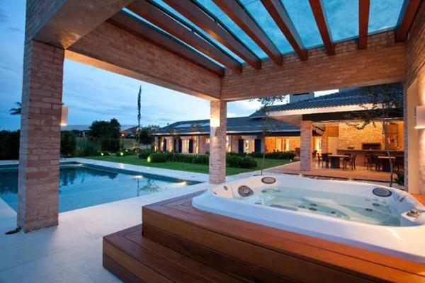 sala de banho externa